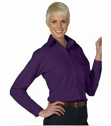 Women's Poplin Long Sleeve Blouse EW5295