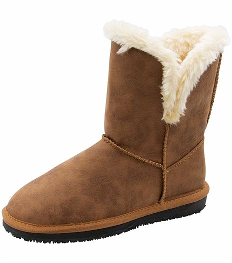 Anywear by Cherokee Women's Bootie-NATURAL