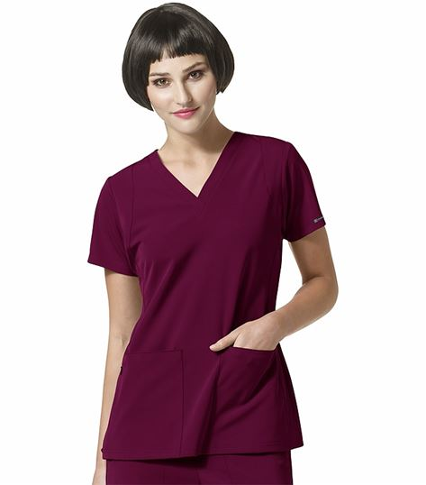WonderWink HP Women's V-Neck Solid Scrub Top-6112