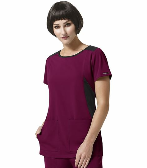 WonderWink HP Women's Boat Neck Solid Scrub Top-6212