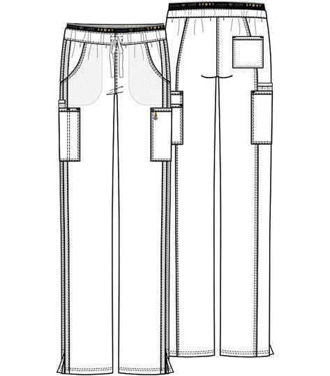 Cherokee Luxe Mid Rise Straight Leg Pull-on Pant CK003