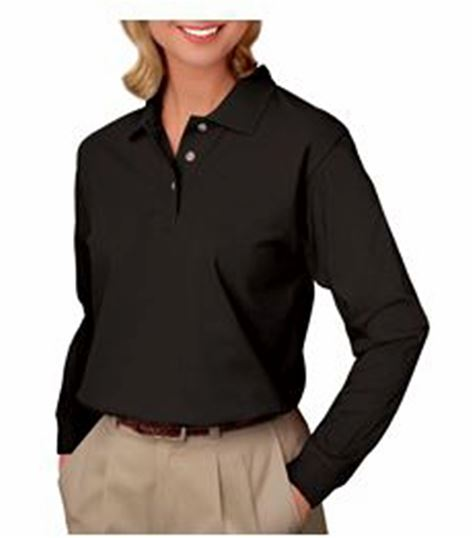 SUPERBLEND Women's Long Sleeve Pique Polo BG6207