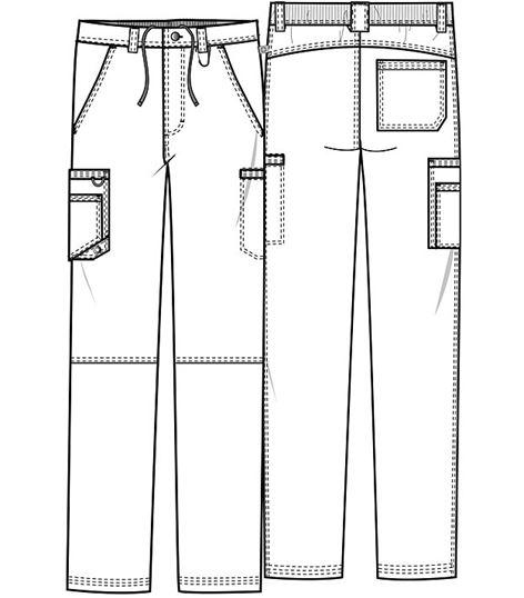 Infinity By Cherokee Men's Cargo Scrub Pants-CK200A