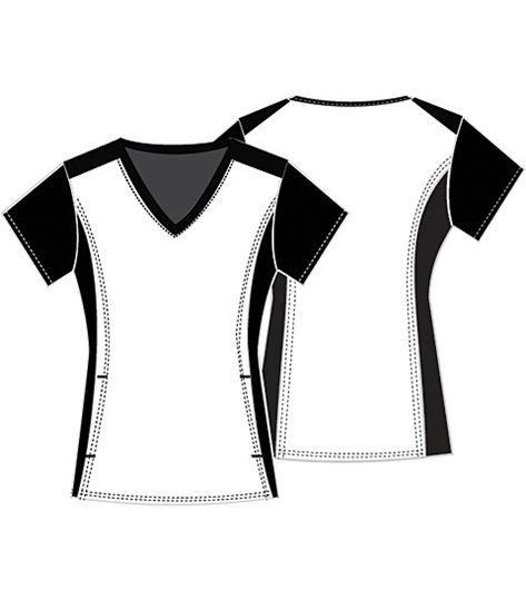 Tooniforms Disney Women's V-neck Scrub Top-TF622