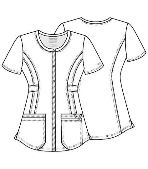 Cherokee Workwear Core Stretch Round Neck Scrub Top-WW683