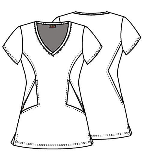 Careisma Women's V-Neck Printed Scrub Top-CA617
