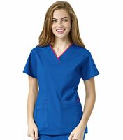 WonderWink WonderFLEX Women's V-Neck Scrub Top-6508