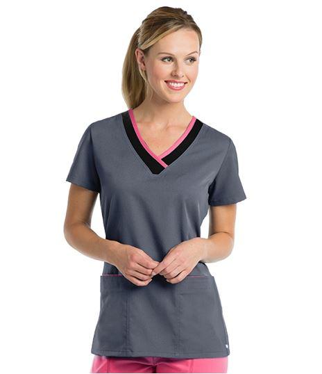 Grey's Anatomy Active Women's Color Block V-Neck Scrub Top-41399