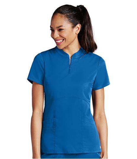 Grey's Anatomy Women's Empire Waist Zip Neck Scrub Top-41446