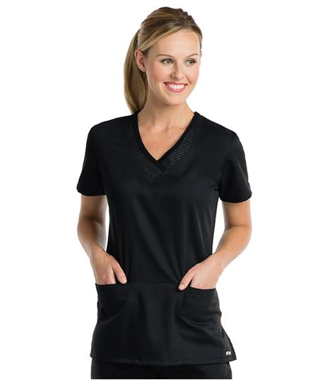 Grey's Anatomy Active Women's Dotted V-Neck Scrub Top-41454