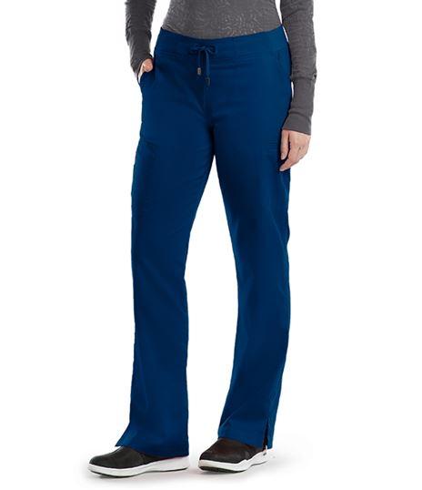 Grey's Anatomy Women's 6 Pocket Straight Leg Cargo Scrub Pants-4277