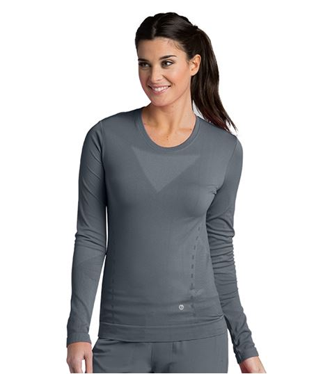 Barco One Women's Long Sleeve Fitted Underscrub Knit Tee-5305