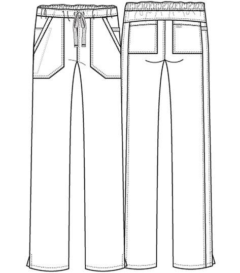 Cherokee WorkWear Stretch Mid Rise Straight Leg Drawstring Pant WW130