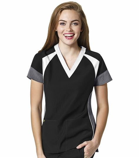 Wonderwink Four-Stretch Women's V-Neck Scrub Top-6814