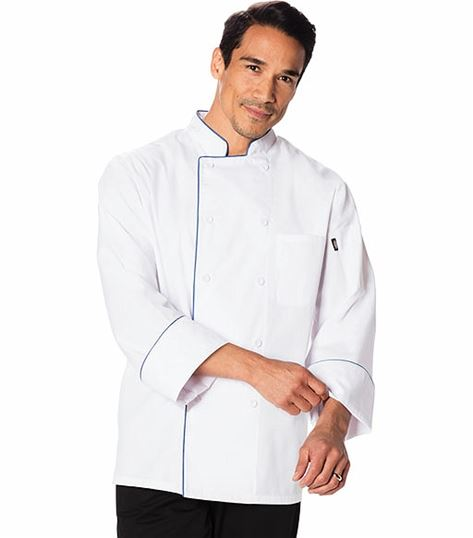 Dickies Chef Cool Breeze Chef Coat With Piping DC411