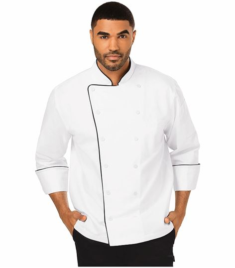 Dickies Chef Executive Chef Coat With Piping DC42B