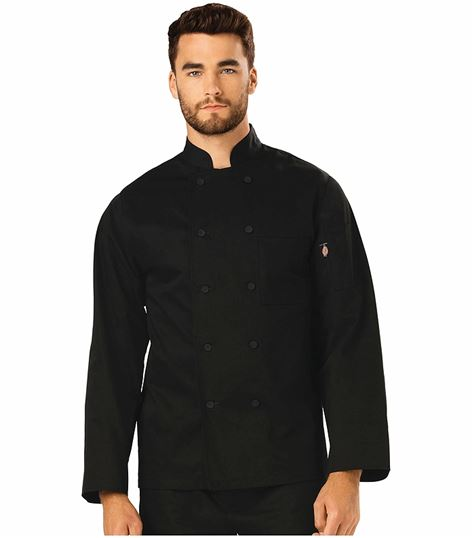 Dickies Chef Classic Cloth Covered Button Chef Coat DC44