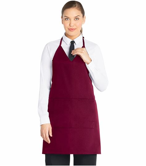Dickies Chef Bib Apron, Tuxedo Style, Snaps,v-nck DC53