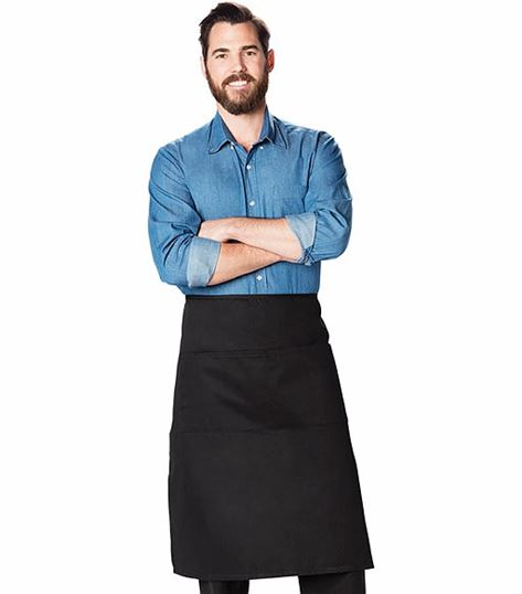 Dickies Chef Waist Apron,full Bistro,2 Pkt DC58