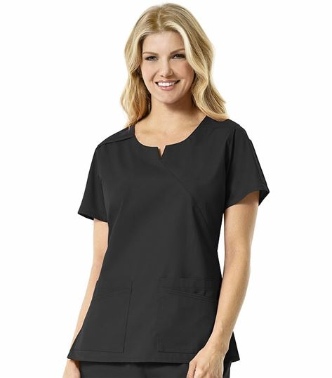 Carhartt Women's Round Notched Neck Mock Wrap Scrub Top-C16201