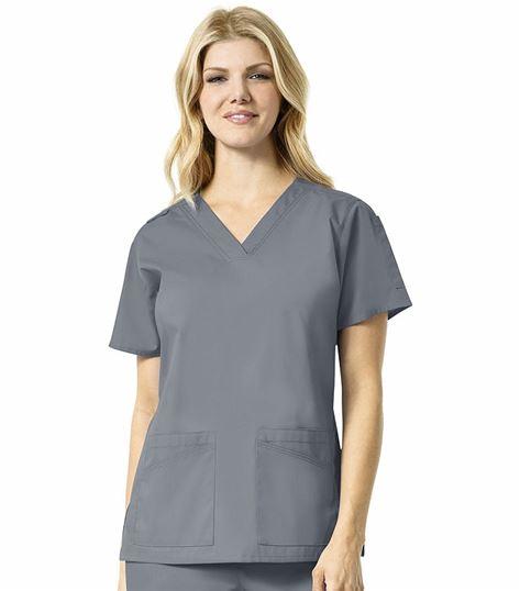 Carhartt Women's Stretch Multi Pocket V-Neck Scrub Top-C16101