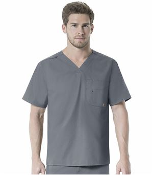 Carhartt Force Men's V-Neck Multi-Pocket Scrub Top-C15101