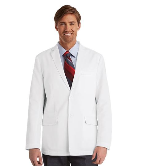 "Grey's Anatomy Men's 4 Pocket 30"" White Lab Coat-0916"