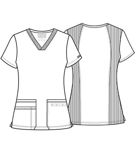 Cherokee Workwear V-neck Top WW645