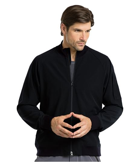 Barco One Men's 3 Pocket Bomber Zip Up Warm Up Scrub Jacket-0405