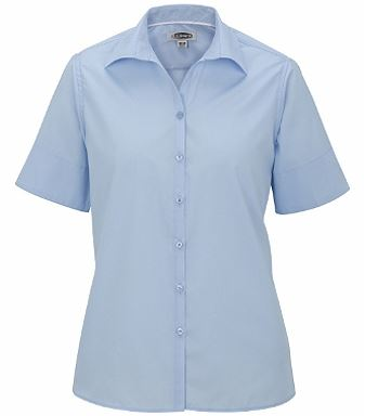 Women's Poplin Short Sleeve Blouse EW5245