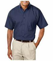 SUPERBLEND Men's Short Sleeve Easy Care Poplin Shirt BG7266S