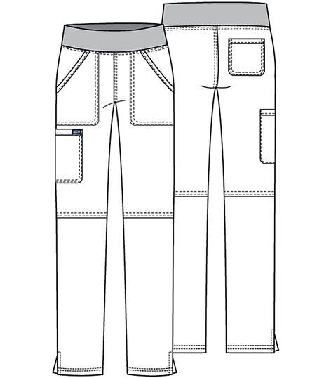 Cherokee Workwear Women's Elastic Waist Tall Cargo Scrub Pants-WW110T