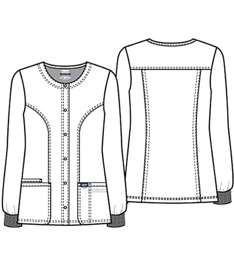Cherokee Workwear Women's Snap Front Warm-Up Scrub Jacket-WW310
