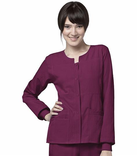 WonderWink Four-Stretch Women's Snap Up Warm-Up Scrub Jacket-8114
