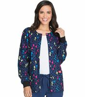 Dickies EDS Women's Printed Warm-Up Scrub Jacket-84300C