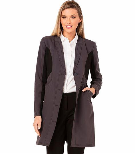 "Careisma by Sophia Vergara Women's 33"" Front Button Lab Coat-CA306"