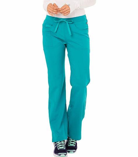 Code Happy Women's Drawstring Flare Leg Scrub Pant-CH000A
