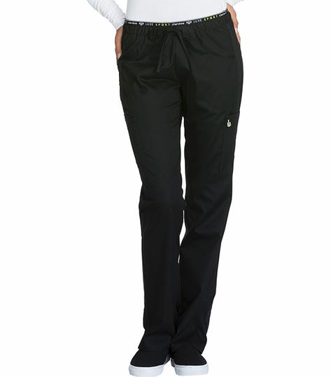 Cherokee Luxe Women's Elastic Cargo Scrub Pants-CK003