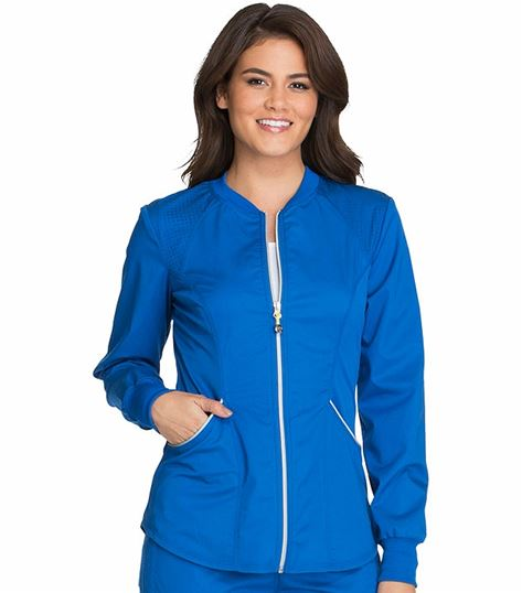 Cherokee Luxe Women's Zip Up Warm-Up Scrub Jacket-CK300