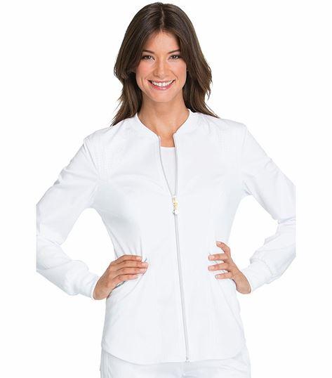 Cherokee Luxe Women's Zip Up Warm-Up Scrub Jacket-CK300