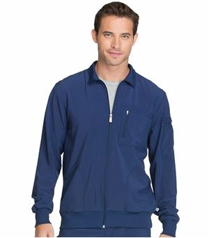 Infinity By Cherokee Men's Zip Up Warm-Up Scrub Jacket-CK305A