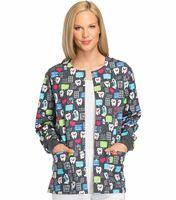 Dickies EDS Women's Snap Front Print Scrub Jacket-DK301