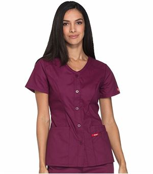 Dickies EDS Signature Button Front V-neck Top DK605