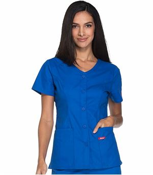 Dickies EDS Signature Button Front V-Neck Scrub Top-DK605