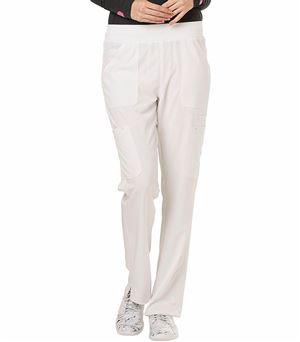 HeartSoul Women's  Elastic Waist Pull On Cargo Scrub Pants-HS020