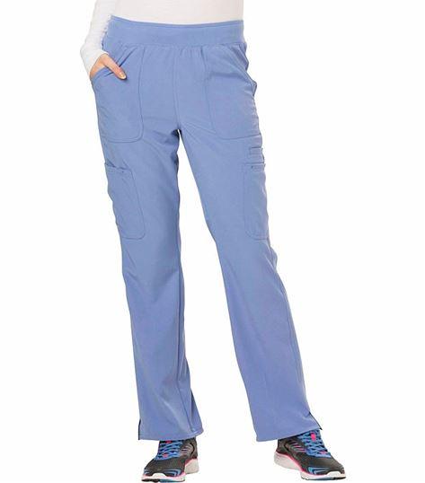 HeartSoul Women's Elastic Waist  Tall Cargo Scrub Pant-HS020T