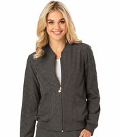 HeartSoul Women's Zip Up Bomber Scrub Jacket-HS310
