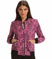 HeartSoul Women's Zip Front Lace Bomber Scrub Jacket-HS311