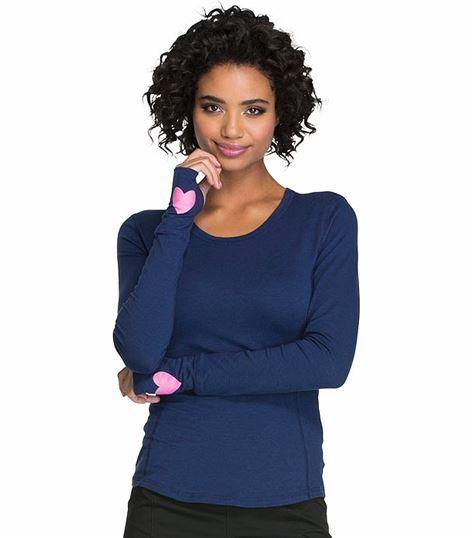 HeartSoul Women's Long Sleeve Underscrub Knit Tee-HS607
