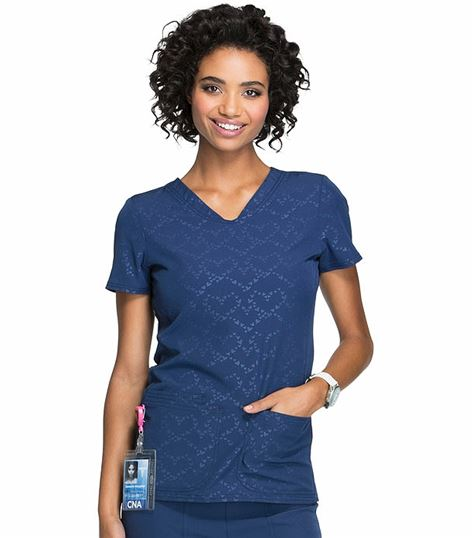 HeartSoul Women's V-Neck Scrub Top-HS627